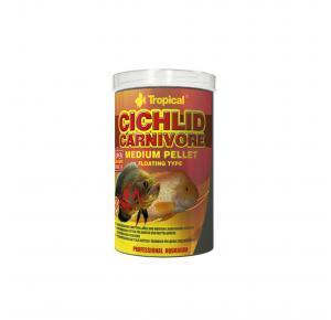 Ração Cichlid Carnivore Medium Pellet 180g Tropical