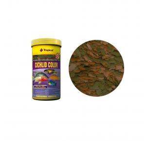 Ração Cichlid Color Flakes 50g Tropical