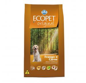 Ração Ecopet Original para Cães Adultos Sabor Frango e Carne 15kg