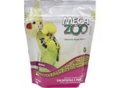 Ração Extrusada Megazoo para Calopsitas e Periquitos 350gr.