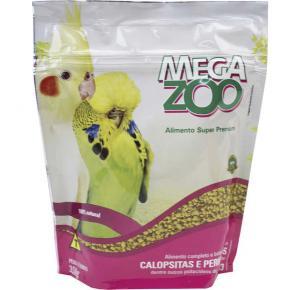 Ração Extrusada Megazoo para Calopsitas e Periquitos 350gr