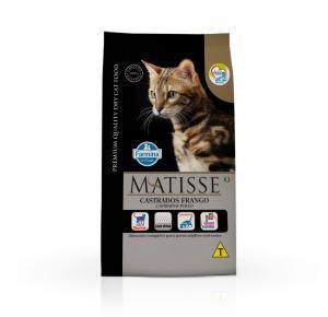Ração Farmina Matisse para Gatos Adultos Castrados Sabor Frango 2kg
