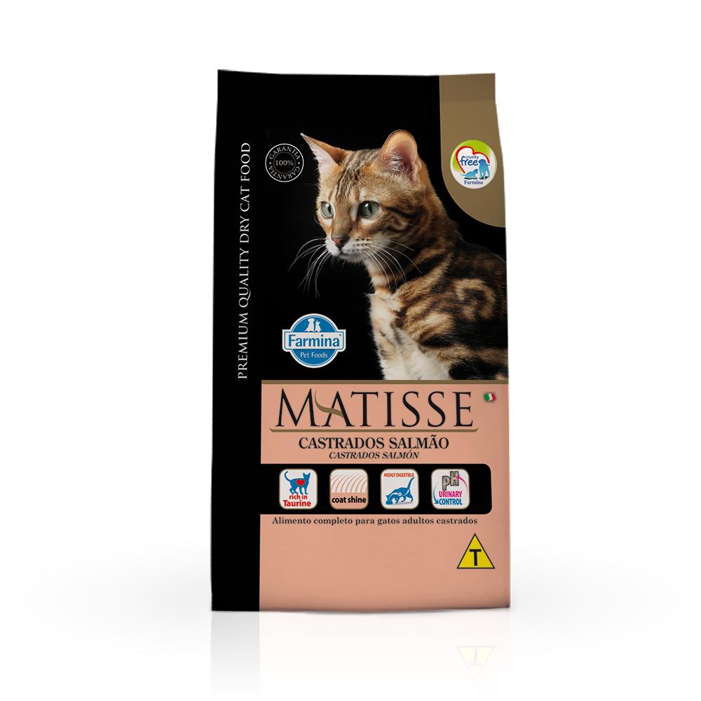 Ração Farmina Matisse para Gatos Adultos Castrados Sabor Salmão 2kg