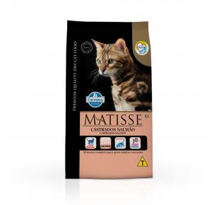 Ração Farmina Matisse para Gatos Adultos Castrados Sabor Salmão 7.5kg