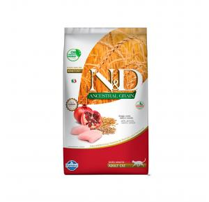 Ração Farmina N&D Ancestral Grain para Gatos Adultos Sabor Frango 1,5Kg