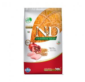 Ração Farmina N&D Ancestral Grain Frango Gatos Adultos 7,5kg