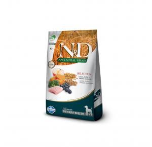 Ração Farmina N&D Ancestral Grain Selection Carnes e Frutas Cães Adultos e Raças Médias 15kg