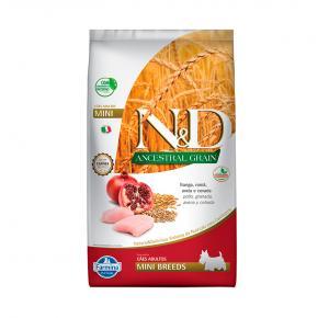 Ração Farmina N&D Ancestral Grain para Cães Adultos de Raças Pequenas Sabor Frango 10.1kg
