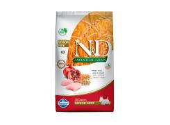 Ração Farmina N&D Ancestral Grain para Cães Sênior de porte Mini sabor Frango e Romã 2.5kg