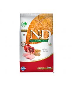 Ração Farmina N&D Ancestral Grain para Gatos Adultos Sabor Frango