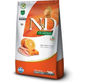 Ração Farmina N&D Pumpkin Tilápia, Abóbora e Laranja para Gatos Adultos 1.5kg