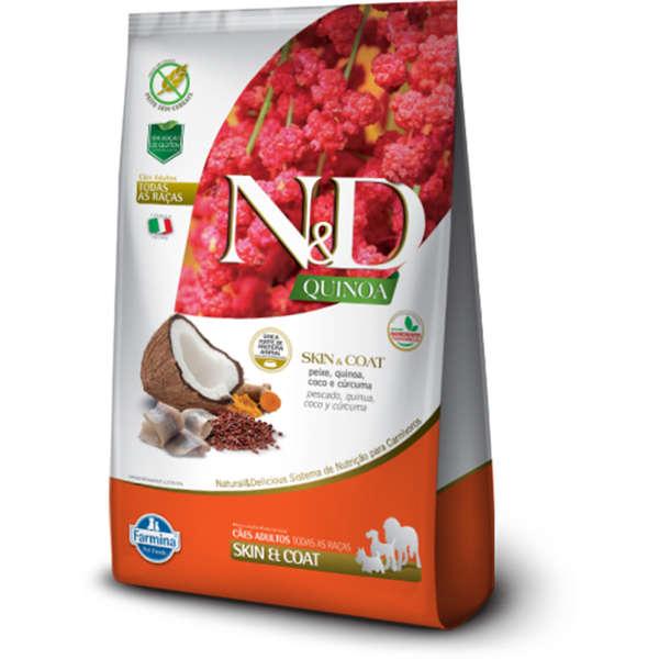Ração Farmina N&D Quinoa Skin & Coat Peixe para Cães Adultos 10.1kg