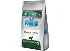 Ração Farmina Vet Life Natural Obesity & Diabetic para Cães Adultos Obesos ou Diabéticos 2kg