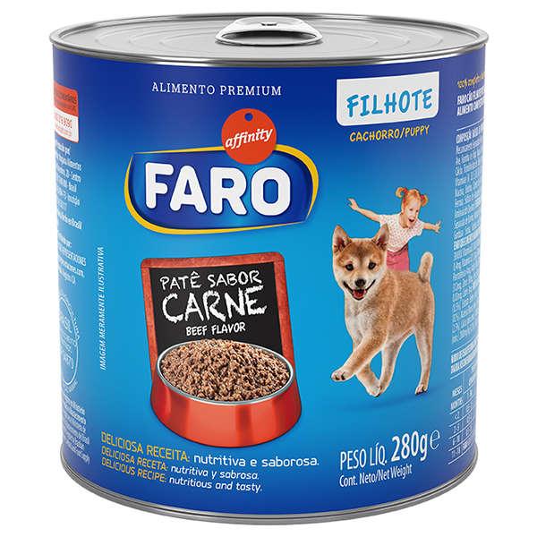Ração Faro Lata Carne para Cães Filhotes 280g