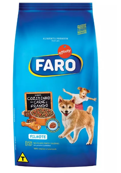 Ração Faro para Cães Filhotes Sabor Carne e Frango 2kg