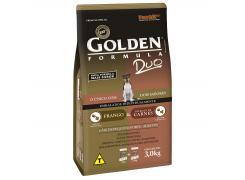 Ração Golden Duo  para Cães Adultos de Pequeno Porte Sabor Frango e Carnes - 3kg