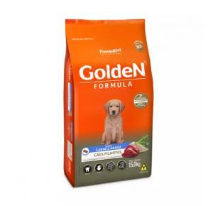Ração Golden Filhote para Cães Sabor Carne e Arroz 15Kg
