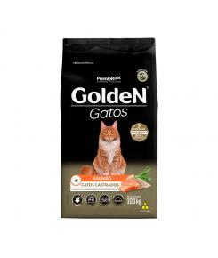 Ração Golden para Gatos Adultos Castrados Sabor Salmão