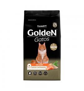Ração Golden para Gatos Adultos Castrados Sabor Salmão 6kg