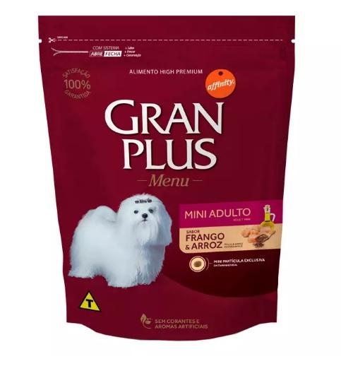 Ração Gran Plus Raças Pequenas para Cachorro Adulto Sabor Frango e Arroz 3kg