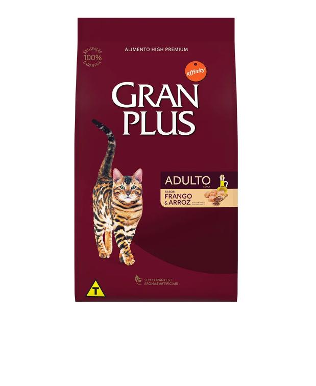 Ração GranPlus Gatos Adulto Frango e Arroz 10.1kg