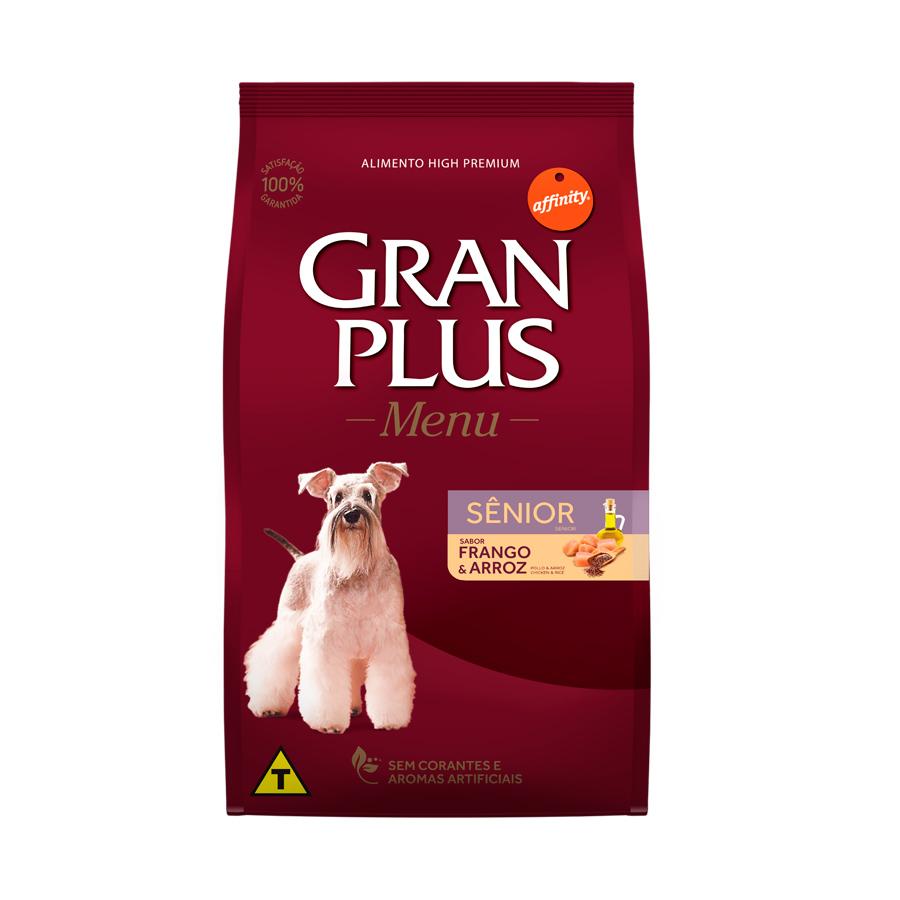 Ração GranPlus Menu Para Cães Sênior Sabor Frango e Arroz 15kg