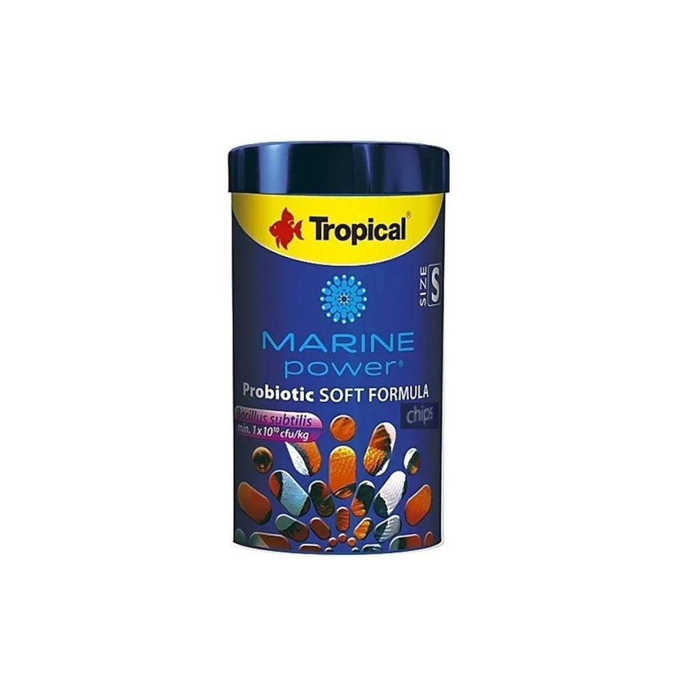 Ração Marine Power Probiotic Soft Formula Size M 52g Chips Tropical