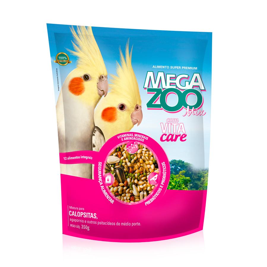 Ração Megazoo Mix para Agapornis e Calopsitas - 350g