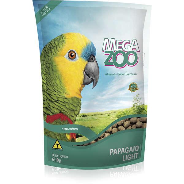 Ração Megazoo Para Papagaios Light 600g