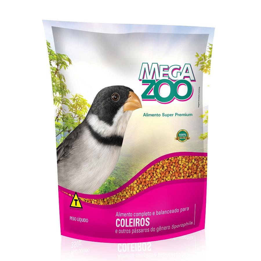 Ração Megazoo para Pássaros Coleiros 350g