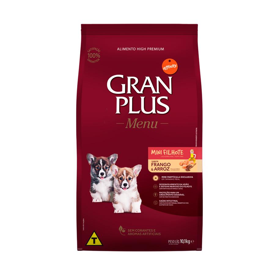 Ração Menu Gran Plus para Cães Filhotes Raças Mini sabor Frango e Arroz 10,1kg