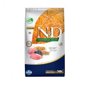 Ração N&D Ancestral Grain Cordeiro Gatos Adultos 7,5kg