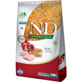 Ração N&D Ancestral Grain Gato Castrado Frango 7.5kg