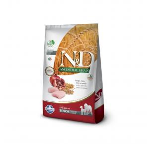Ração N&D Ancestral Grain para Cães Sênior de Porte Médio Frango e Romã 10.1kg