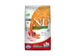 Ração N&D Ancestral Grain para Cães Sênior de porte Médio Frango e Romã 10,1kg