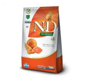 Ração N&D Pumpkin Salmão, Abóbora e Laranja para Gatos Adultos 1,5kg