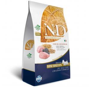 Ração N&D para Cães Adultos Raças Mini Ancestral Grain sabor Cordeiro e Blueberry 10.1kg