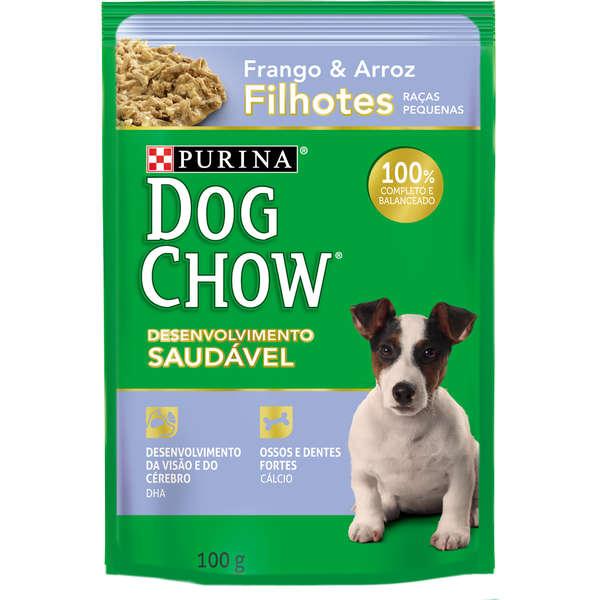 Ração Nestlé Purina Dog Chow Filhotes Raças Pequenas Sachê Frango e Arroz 100g