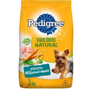 Ração Pedigree Equilíbrio Natural para Cães Adultos de Raças Pequenas 3kg