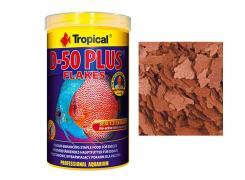 Ração Peixes D-50 Plus Flakes - Pote 50g - Tropical