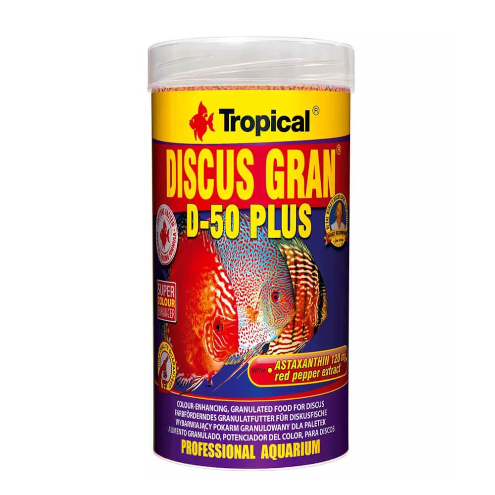 Ração Peixes Discus Gran D-50 Plus 44g Tropical