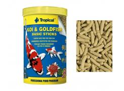 Ração Peixes Koi Goldfish Basic Sticks-Bag 800G tropical