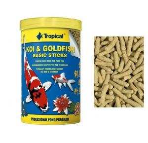 Ração Peixes Koi Goldfish Basic Sticks - 90G tropical