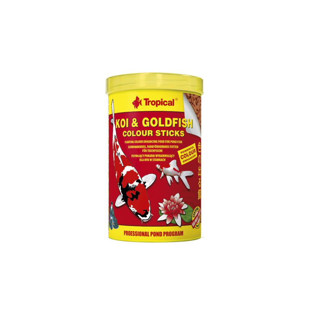 Ração Peixes Koi & Goldfish Colour Sticks Bag 90g Tropical