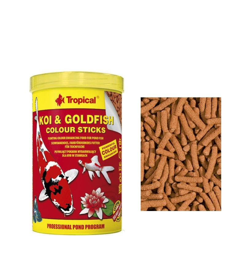Ração Peixes Koi & Goldfish Colour Sticks-bag 800g Tropical