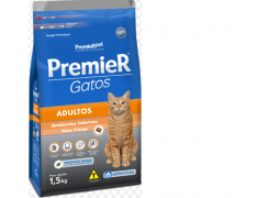 Ração Premier Ambientes Internos para Gatos Adultos Sabor Frango 1.5kg