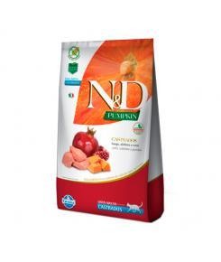 Ração Farmina Pumpkin N&D para Gatos Adultos Castrados sabor Frango