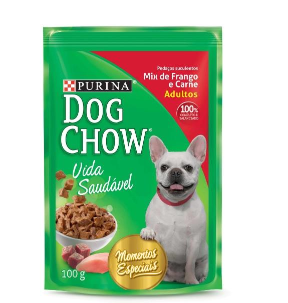Ração Purina Dog Chow  Adultos para Cães Mix de Frango e Carne Sachê 100g