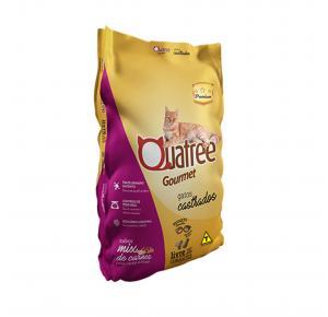 Ração Quatree Gourmet para Gatos Adultos Castrados Sabor Mix de Carnes 3kg