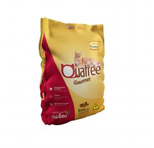 Ração Quatree Gourmet para Gatos Adultos Sabor Carne 1kg